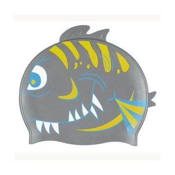 Afbeelding van Badmuts Haai siliconen grijs